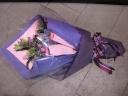 ピンク・紫系のエレガントな花束