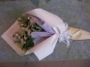 トルコキキョウメインの御供用花束
