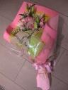 ピンク系の花束