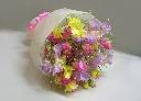 スイートピーのカラフルな花束