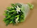 白ユリの花束