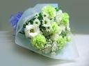 トルコギキョウとカーネーションの花束