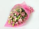 トルコキキョウとカスミソウの花束