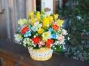 春の花たっぷりのビタミンカラーアレンジメント