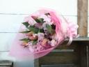 チューリップとスイートピーの花束/ピンク