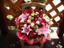 赤いお花で、お母さんありがとう!