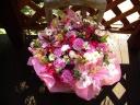 ピンクのお花で、お母さんありがとう!