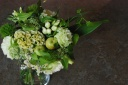 野の花屋 グリーンラウンドブーケ