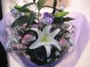 カサブランカとトルコキキョウの花束