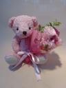ブーケットカーリィベア(Pink)