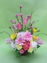 桃の花アレンジメント