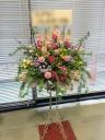 御祝用スタンド花【ピンク系】:1段
