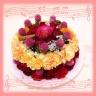 フラワーケーキアレンジ!(赤系)誕生日に!