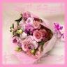 人気花材使用のピンク系ブーケ花束