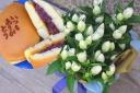 リンドウ・白+どら焼きセット