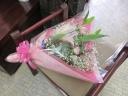 ピンク系ボリューム花束