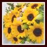 punto.の「元気なヒマワリの花束」