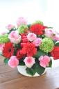 「母の日」-鮮やかレッドとピンクのディアママン-