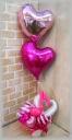 2つの浮くバルーン付◆キャンディーリズム(ピンク)