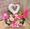 ◆お花タップリリズムハート(ホワイトピンク)◆