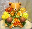 バルーン付アレンジ◆ビタミンベア(2ハート)◆
