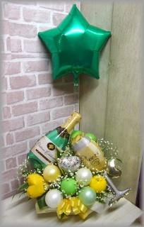 浮くバルーン付◆シャンパンのふわふわころりん◆
