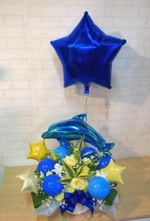 浮くバルーン付◆ブルードルフィン&3つの星