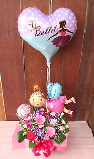 浮くバルーン付◆バレエ女子に◆ピンク&パープル