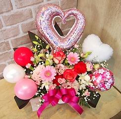 バルーン&生花◆和柄ピンク◆