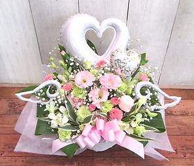 バルーン&生花◆天使のようなあなたへ◆