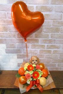 お好きな犬種に変更可◆トイプーアレンジ♪(浮くバルーン付)