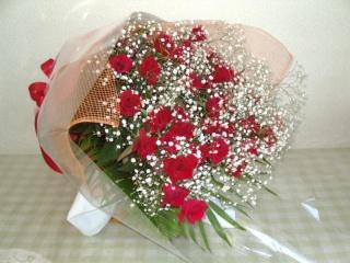 特別の日に !! 赤バラの花束