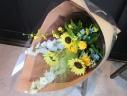 ヒマワリの花束「ブルー」