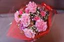 ピンク カーネーションのお花束