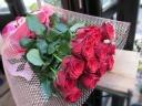 情熱の赤バラの花束