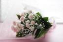ふんわりピンクの花束