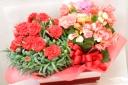 母の日に贈りたい華やか寄せ鉢「カーネとベゴニア」