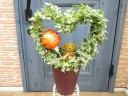 ハート型ヘデラの鉢