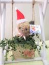ブランコに乗ったネコちゃんのトピアリー