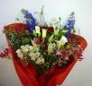 蘭とバラたくさんの豪華な花束・601