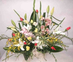 【ネクサス】 バラと蘭のアレンジメント