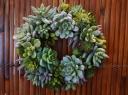 多肉植物(造花)リース