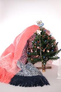 クリスマスツリーとスカーフのセットです。