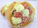 お母さんへ贈るカーネーションブーケ~黄色オレンジ~