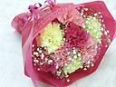 お母さんに贈るカーネーションのブーケ~ピンク~