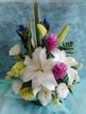 清々しいユリの御供花