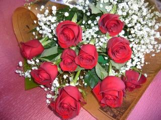 Love 赤いバラ