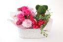 くまさんとお花のバスケット