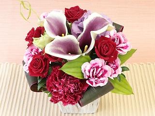 銀座花門今月の花「カラーのアレンジメント」