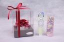 レッドバラ&ハンドクリームB・ハンカチ紫セット